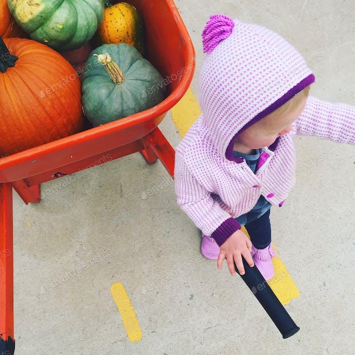 Guardian of the pumpkins.