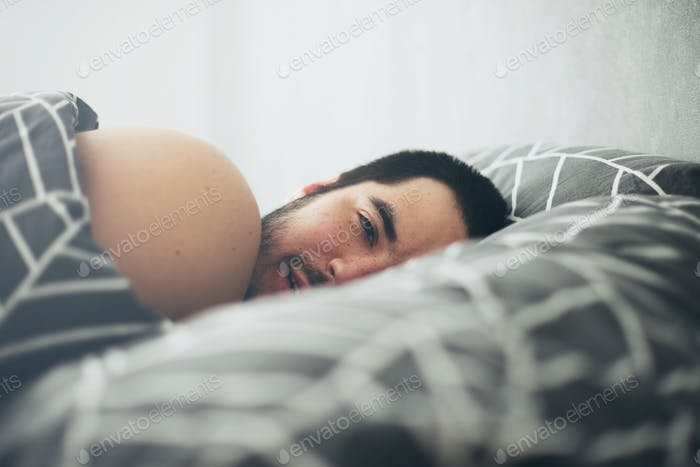 Morning in the bed