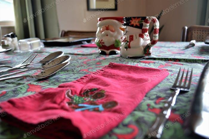 christmas holiday table