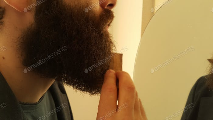 Combing of the beard