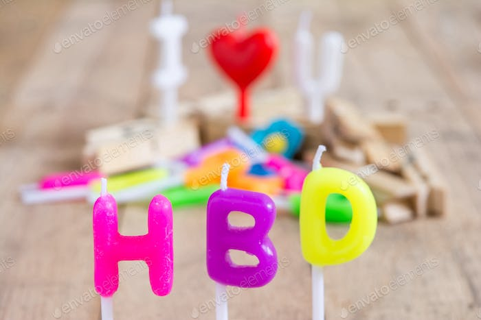 Happy birthday shape of candles