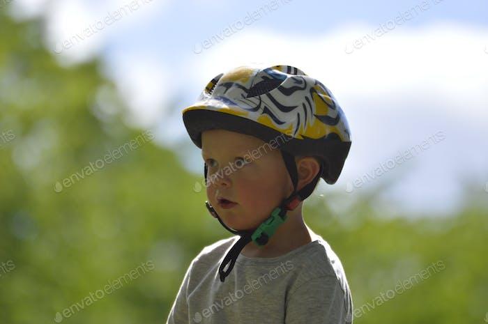 Boy with a helmet
