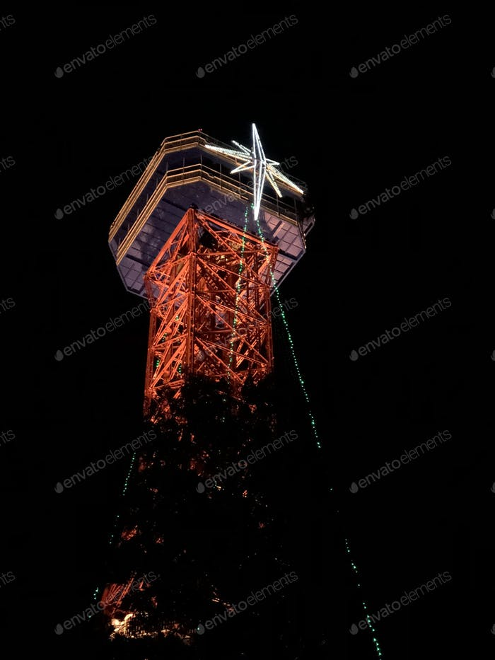Six flags over Texas Holiday in the Park - star tower