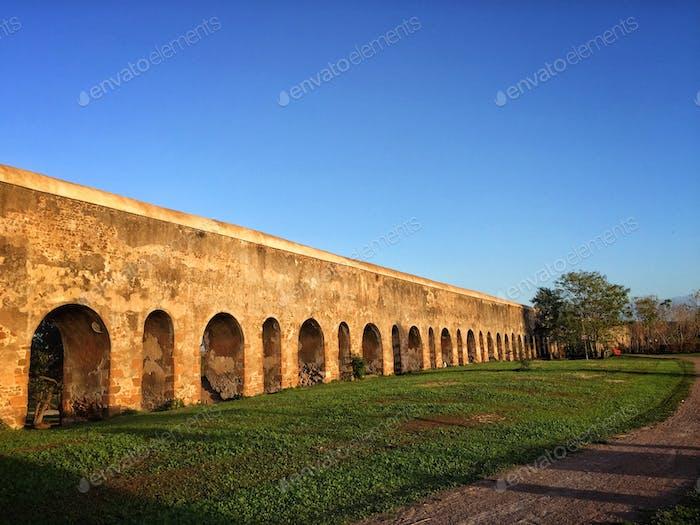 Ancient roman acqueduct