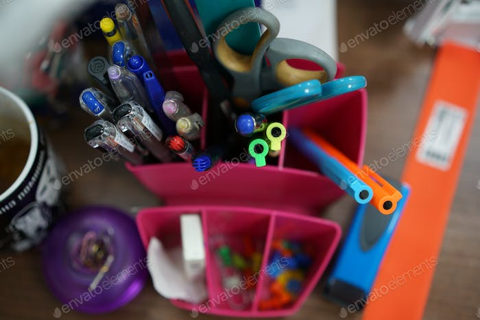 Stationary items in an office