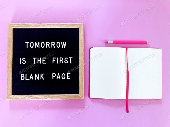 Morgen ist die erste leere Seite