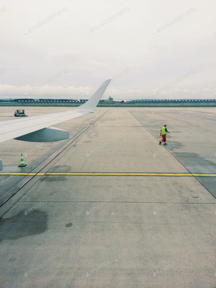 Airplane on the tarmac, Ready for take off