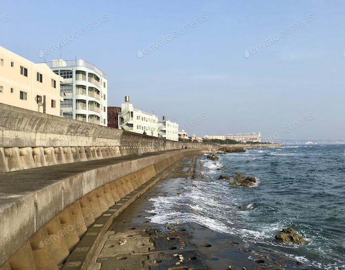 Sea wall in Okinawa