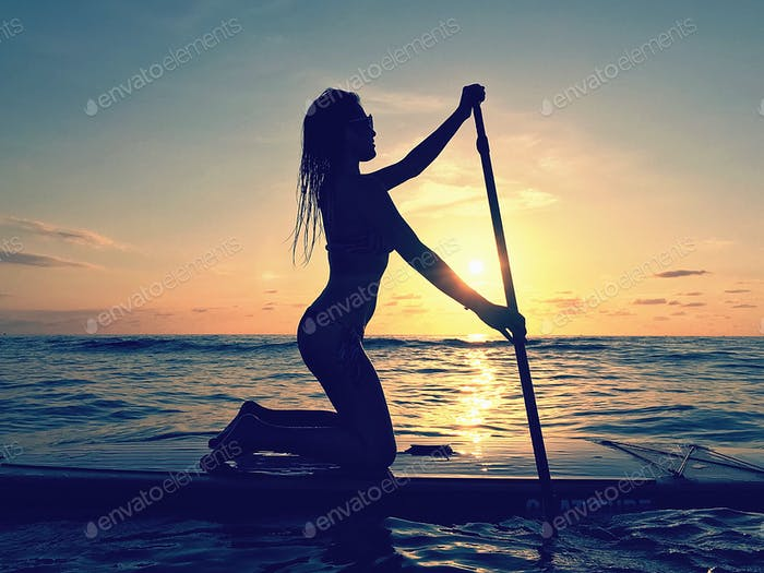 Paddle boarder