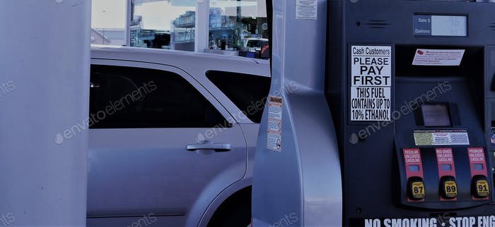 Car at the Gas Pump at the Gas Station!