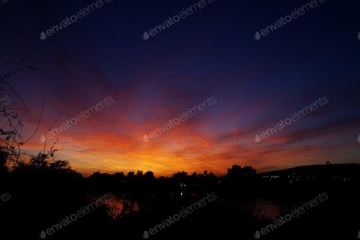 classic arizona sunset