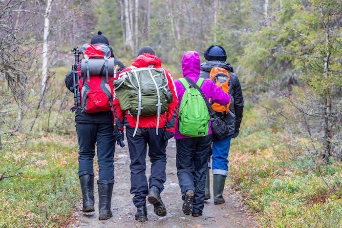 Hikers on a hike