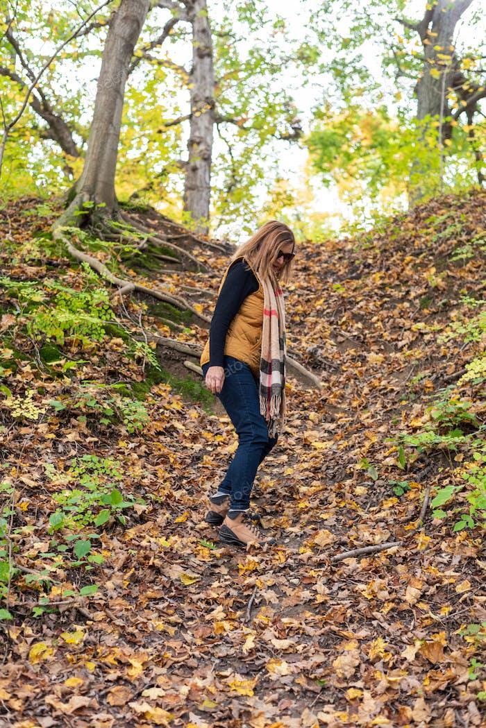 Hiking in Wisconsin in Autumn