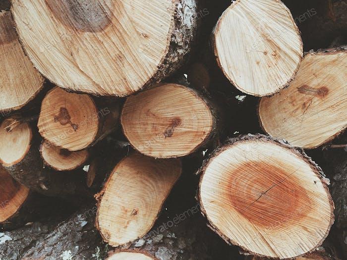 chopped wood.