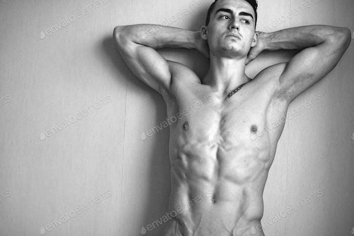 Smooth naked man