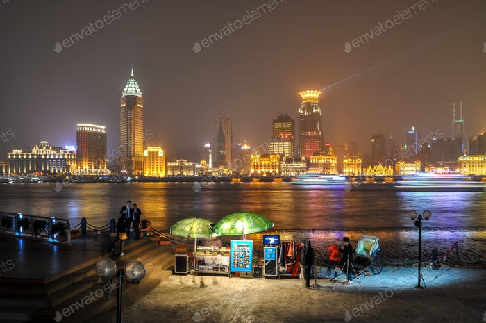 Scenic view of Pudong Shanghai at the Bund