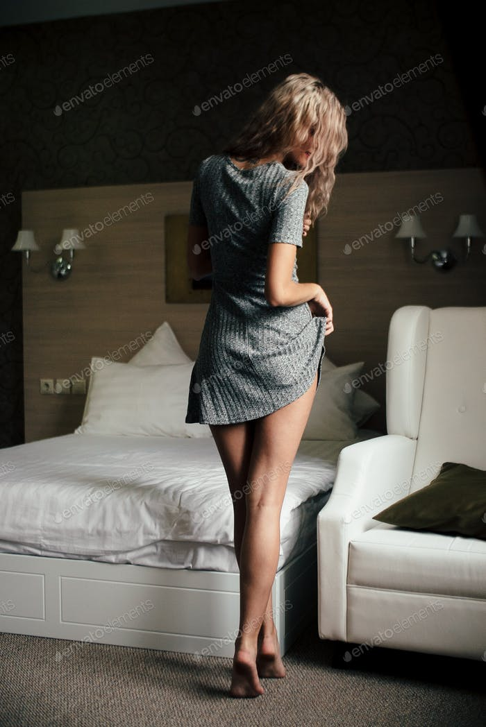 sexual girl portrait  in dress