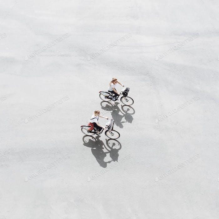 Biking in sunshine