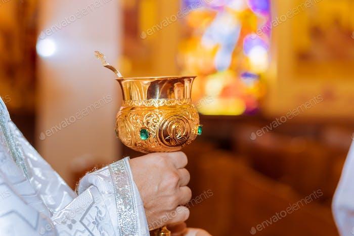 Brot, Wein und Bibel für Sakrament oder Kommunion, Gebet für Wein
