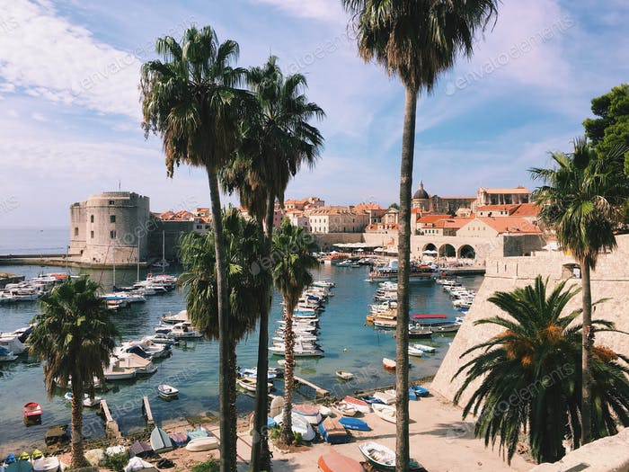 Dubrovnik old port, Croatia