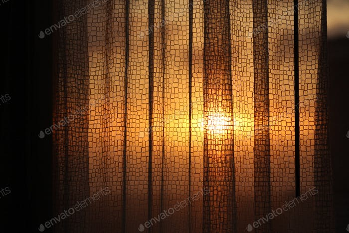 Golden hour curtains.