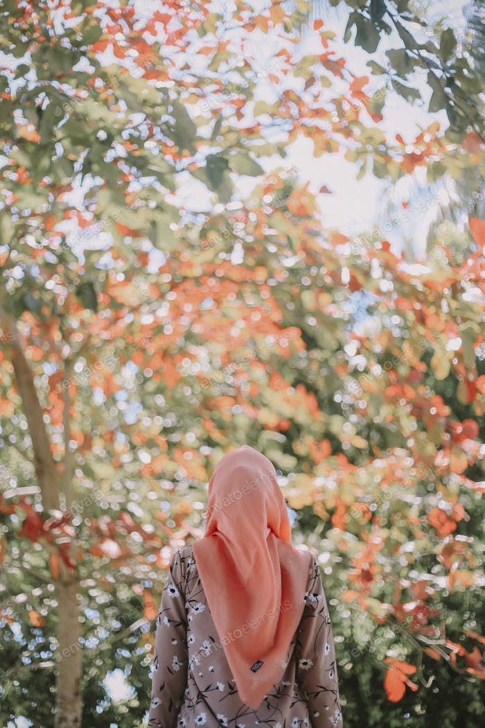 Beauty hijab in nature