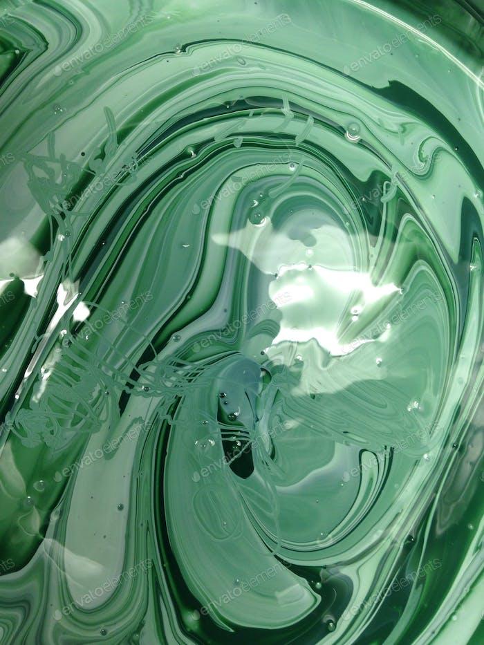 Wirbel von grüner Farbe