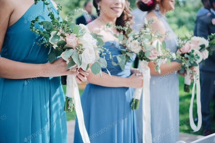 Bridesmaids in wedding