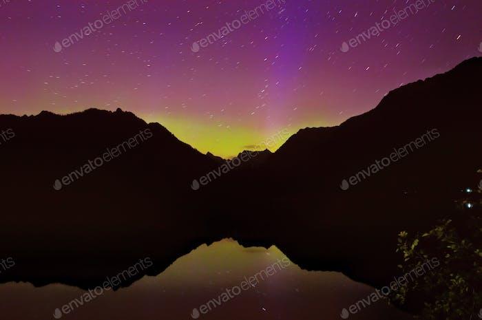 Aurora Borealis - Tonos de Rosa y Morado