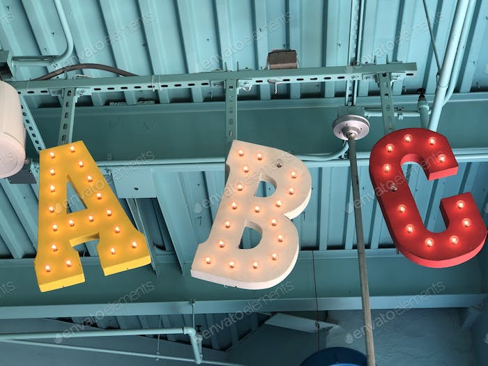 Letters in the wild a b c alphabet