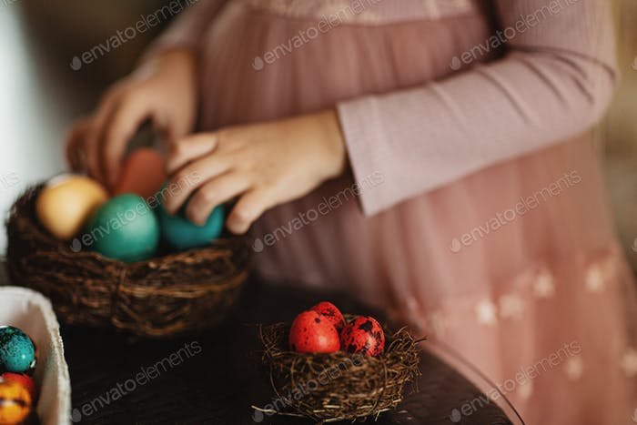 Nominated   child, egg, easter, kid, girl, cute, holiday, celebrate, childhood, color, colorful, lit