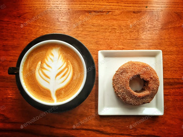 Coffee and doughnut; breakfast of champions