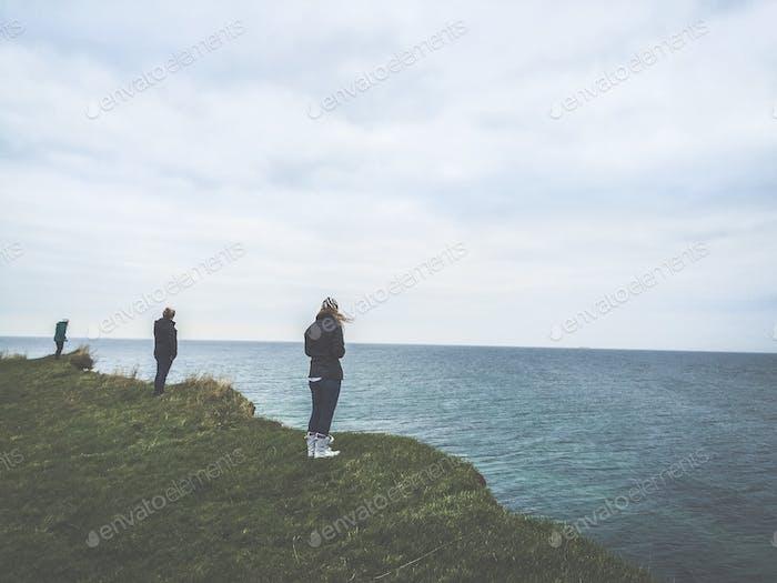 On the cliffs of Langeland, Denmark