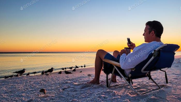 Beach is for the birds....