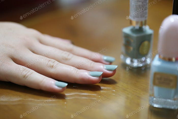 Fingernails colors beauty closeup