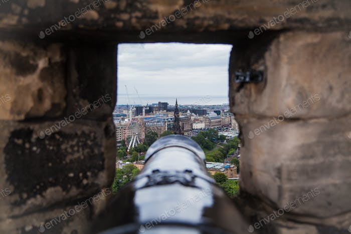 Edinburgh from the Cannons