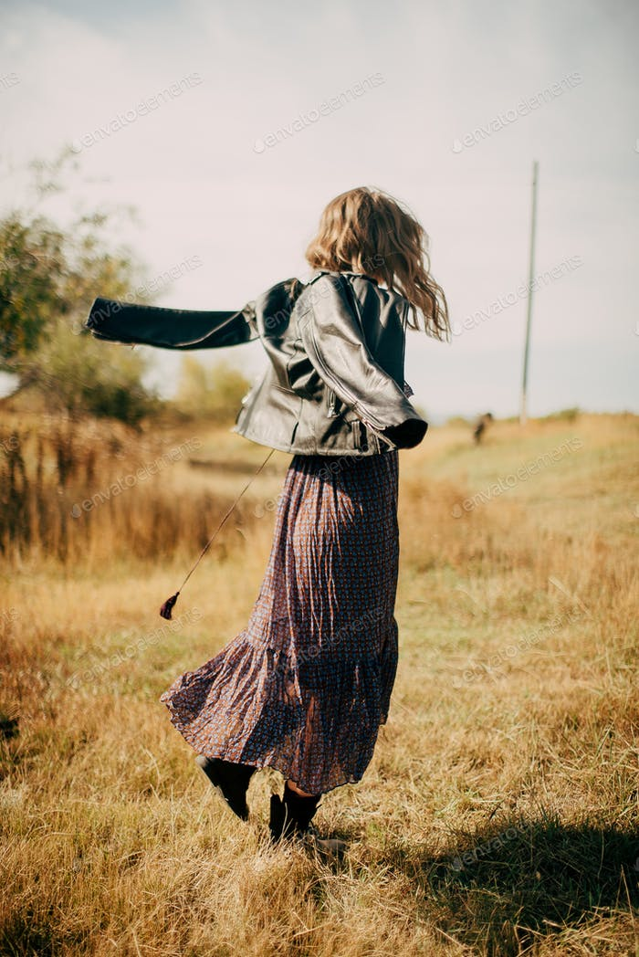 girl in the style of a boho