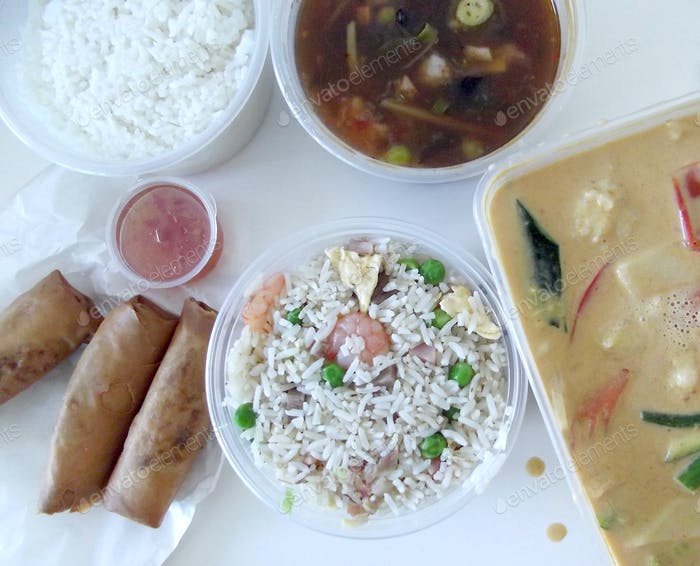 Takeaway chinese food