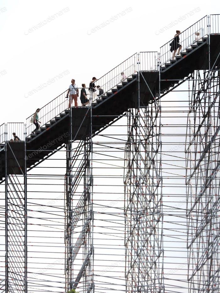Stair walkers in Rotterdam