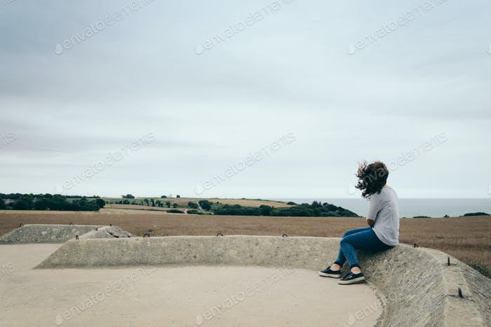 Woman looking at the horizon
