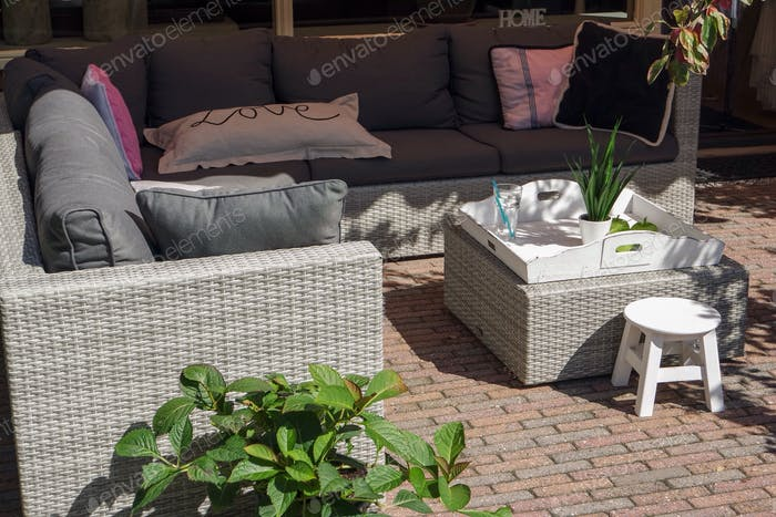 Outdoor furniture. Outdoor living space.