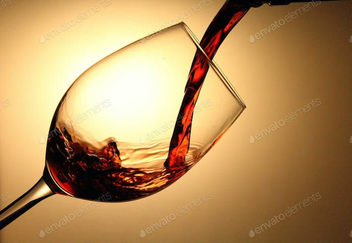 A glass of red chilean Wine.