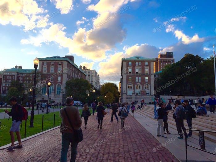 Walking through Columbia's campus