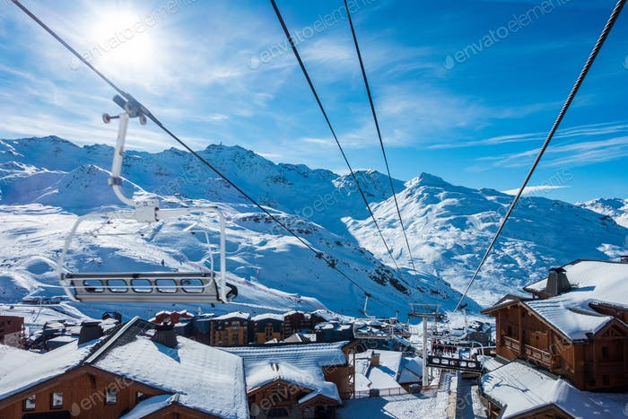View of Val Thorens from the cable car