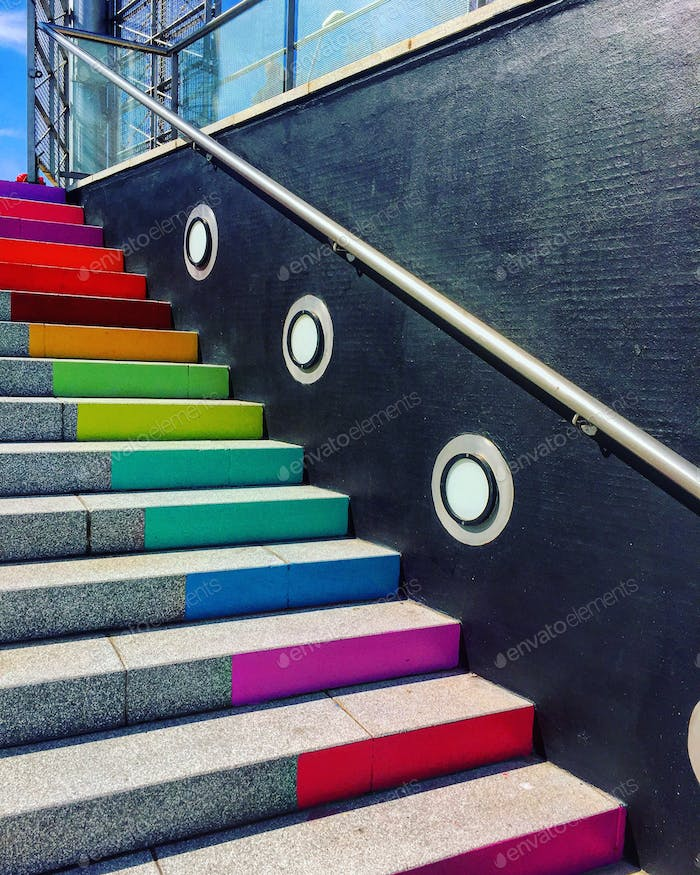 Stairs and step