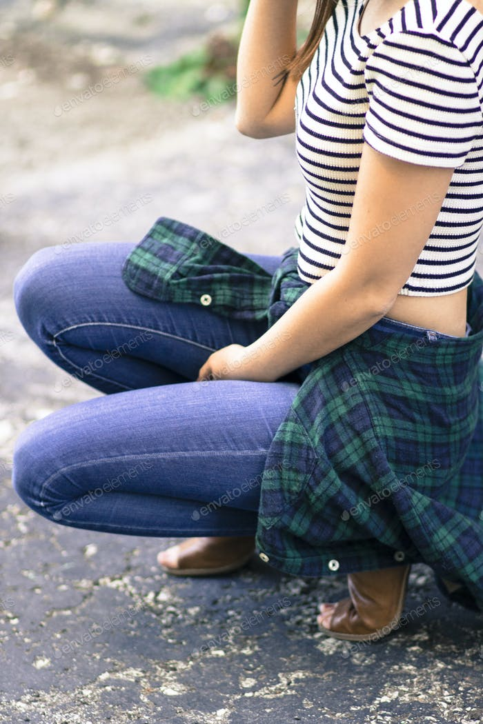 Girl in flannel