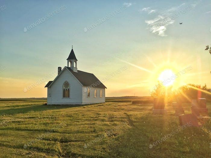 Little church on the prairie.