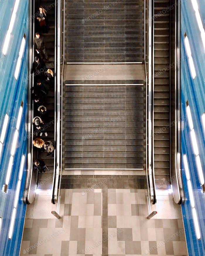 Subway station.