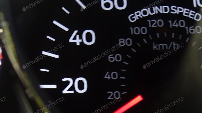 Groundspeed Indicator On The Dash Of A Mustang GT
