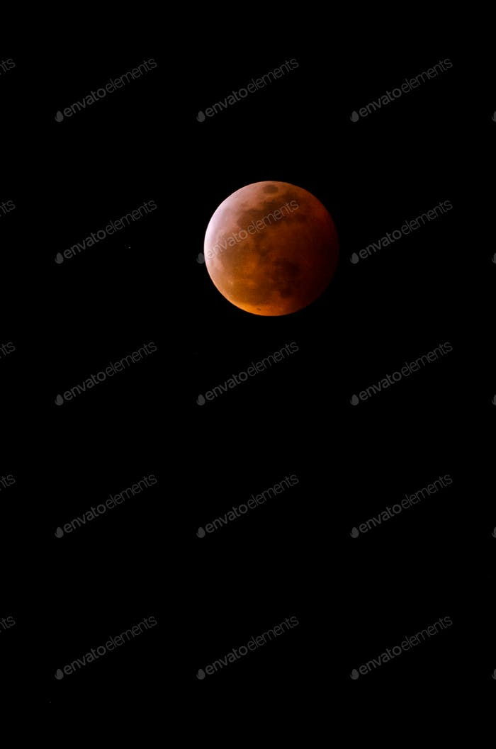 Full  lunar eclipse of January 20, 2019